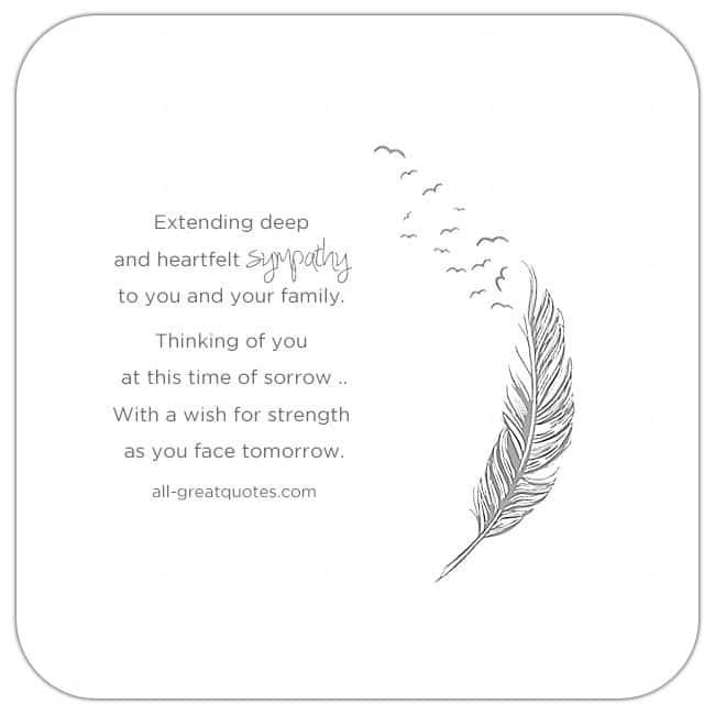 Sympathy Condolences Cards. Extending Deep And Heartfelt Sympathy
