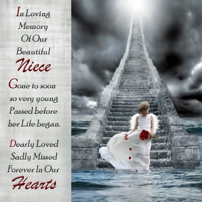 Memorial Cards | In Loving Memory Of Our Beautiful Niece