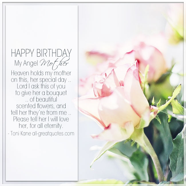Happy Birthday My Angel In Loving Memory Mom Birthday Cards