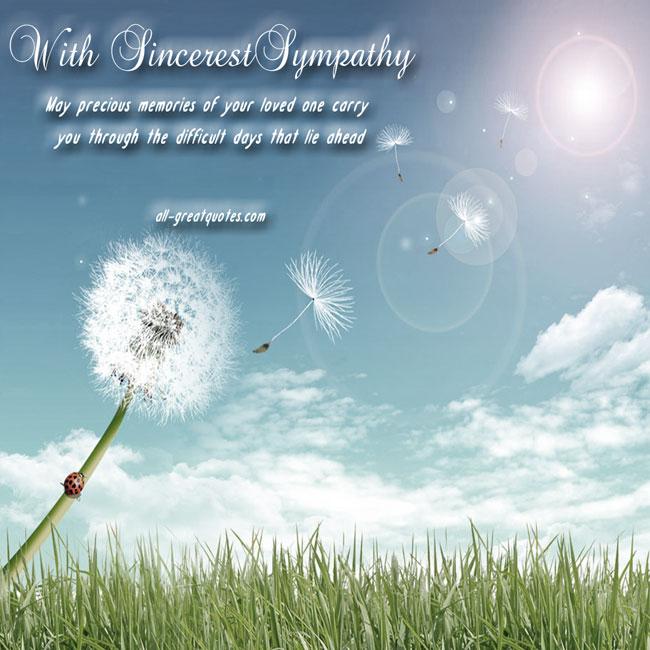 Condolences Card | With Sincerest Sympathy