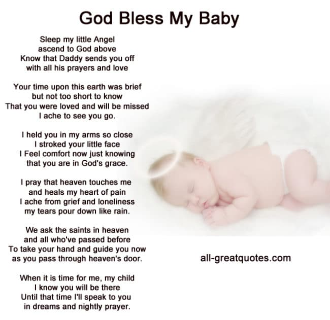 In Loving Memory Cards | God Bless My Baby