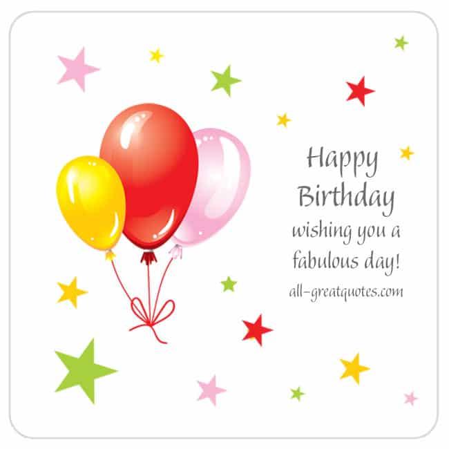 Happy Birthday - wishing you a fabulous day