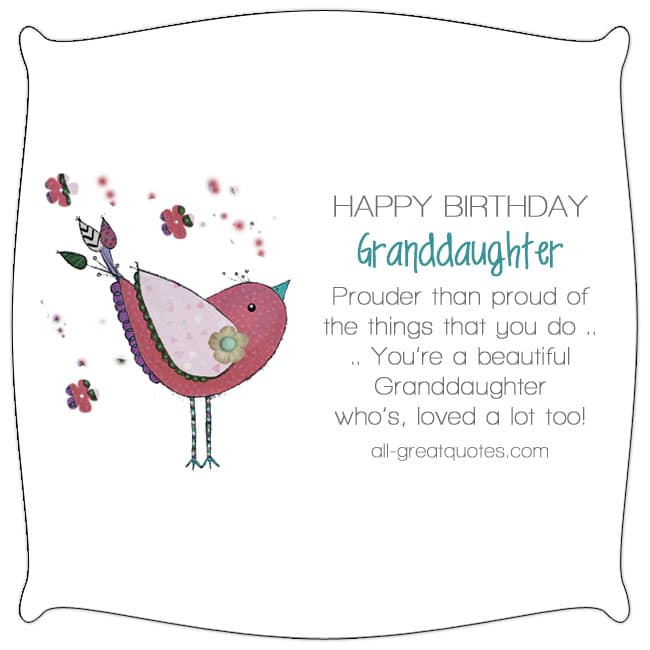 Birthday Wishes for Granddaughter to Write in Card - all-greatquotes.com
