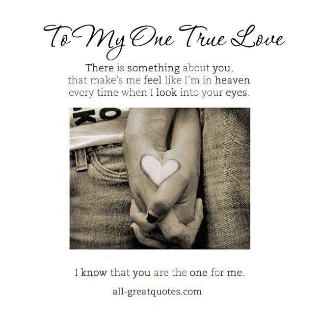 To-My-One-True-Love