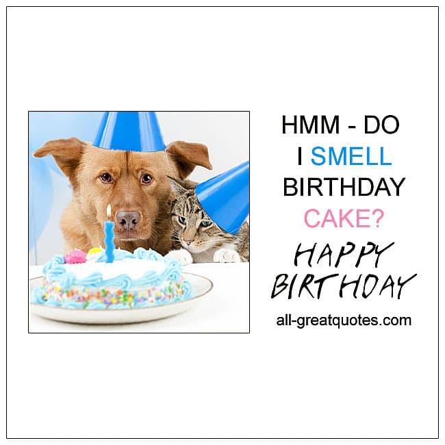 hmm do i smell birthday cake  free funny birthday cards, Birthday card