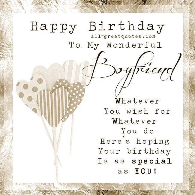 Happy Birthday To My Boyfriend Quotes: Happy Birthday To My Wonderful Boyfriend