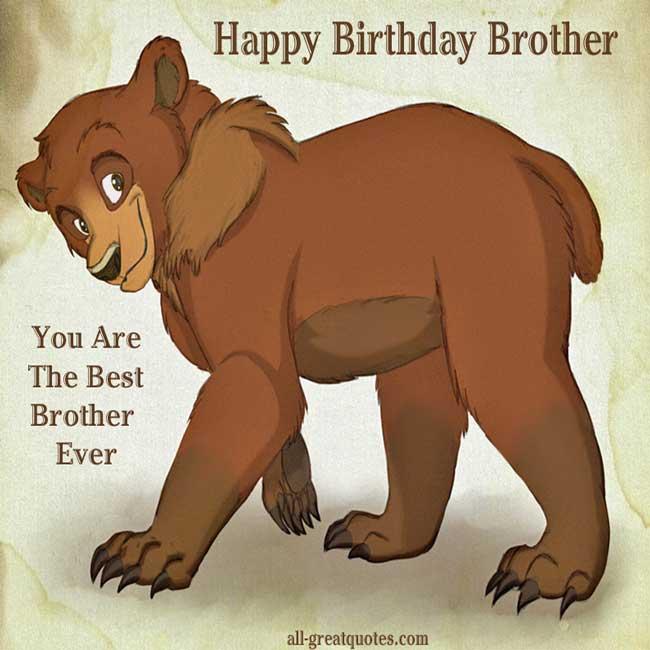 Happy Birthday Brother Card