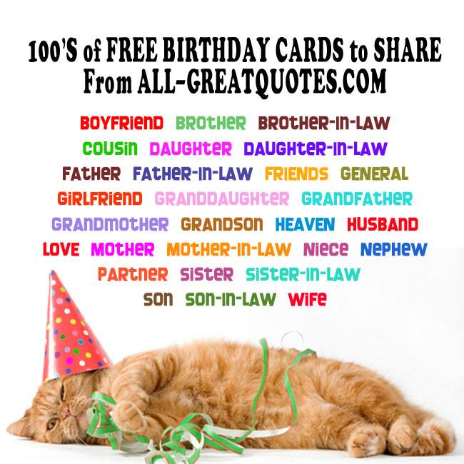 Free Birthday Cards To Share On Facebook