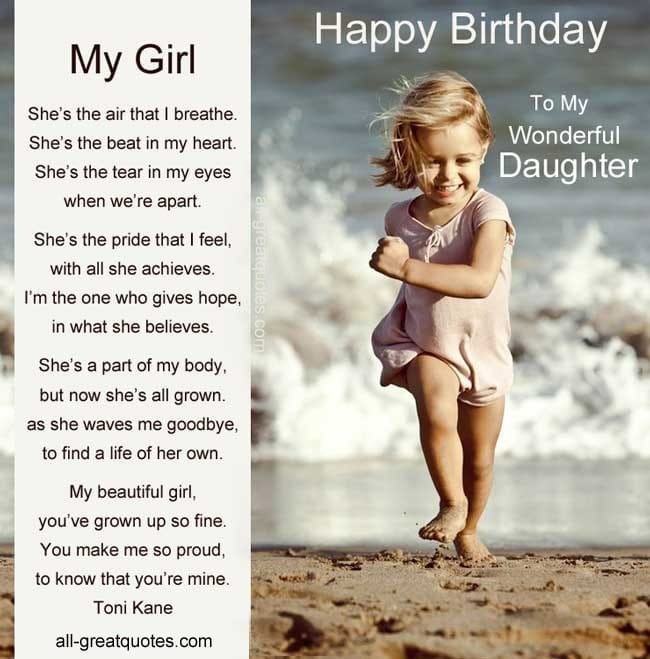 Quotes From Daughter Happy Birthday. QuotesGram