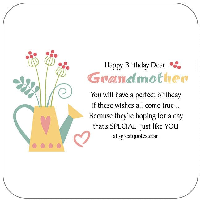 Grandmother free birthday cards to share on Facebook, Share on Facebook, birthday cards for free, ecard images, pictures, photos