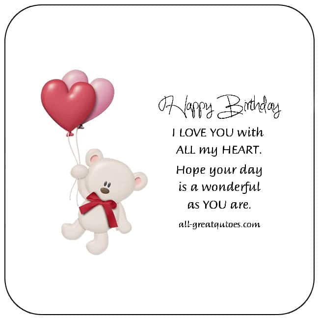 Go to all free birthday cards for Love - Share awesome free pictures images for Love birthday cards on Facebook