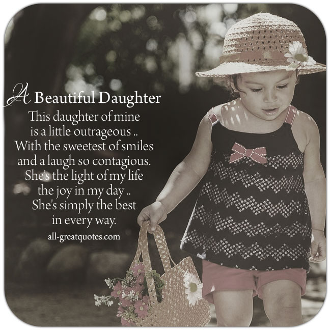 A Beautiful Daughter Poems Father Daughter Mother Daughter