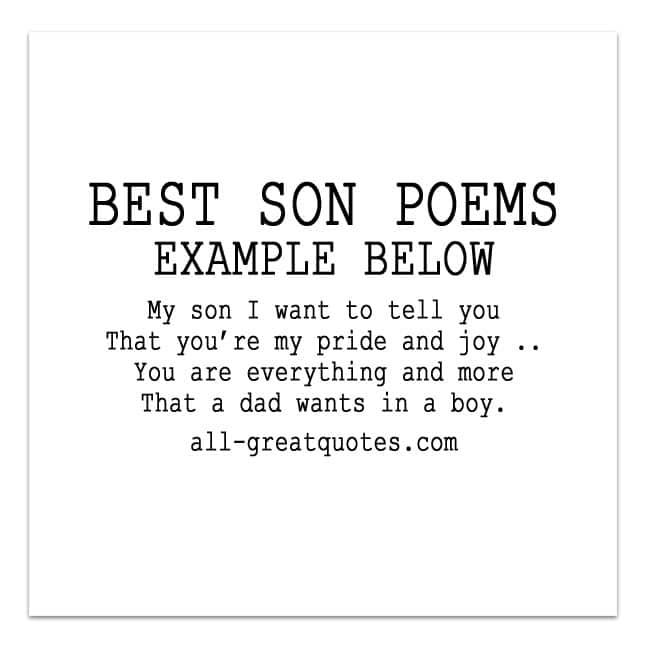 Wr Part My Son Quotes: My Son I Want To Tell You, That You're My Pride And Joy