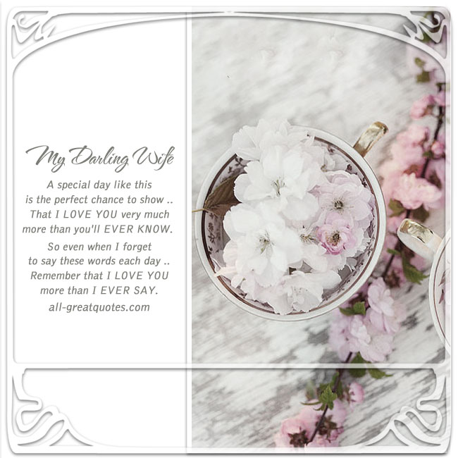 Birthday wishes for Wife with love Sweet verses poems – Verses for 50th Birthday Cards