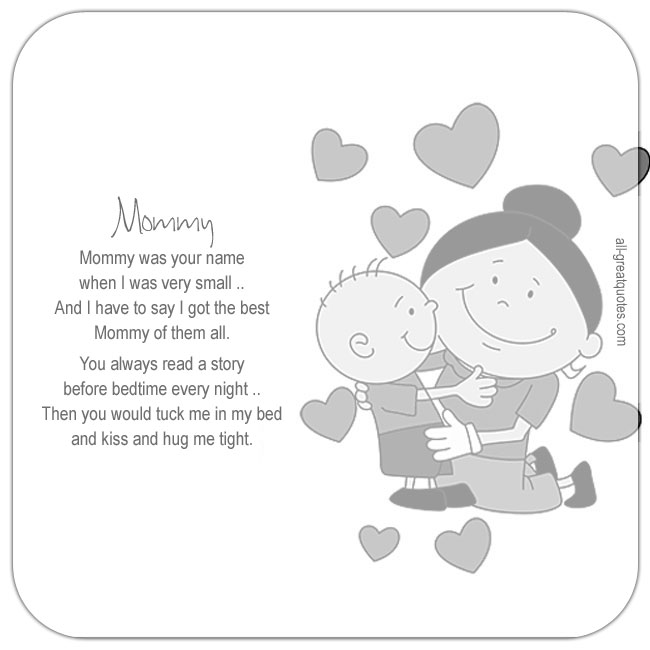 Best Sweetest Cute Mommy Poems