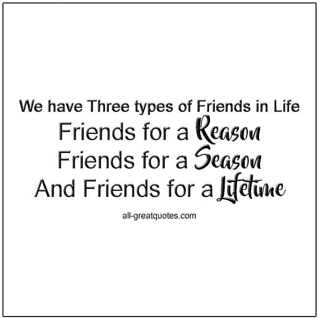 We Have Three Types Of Friends In Life Picture Quote