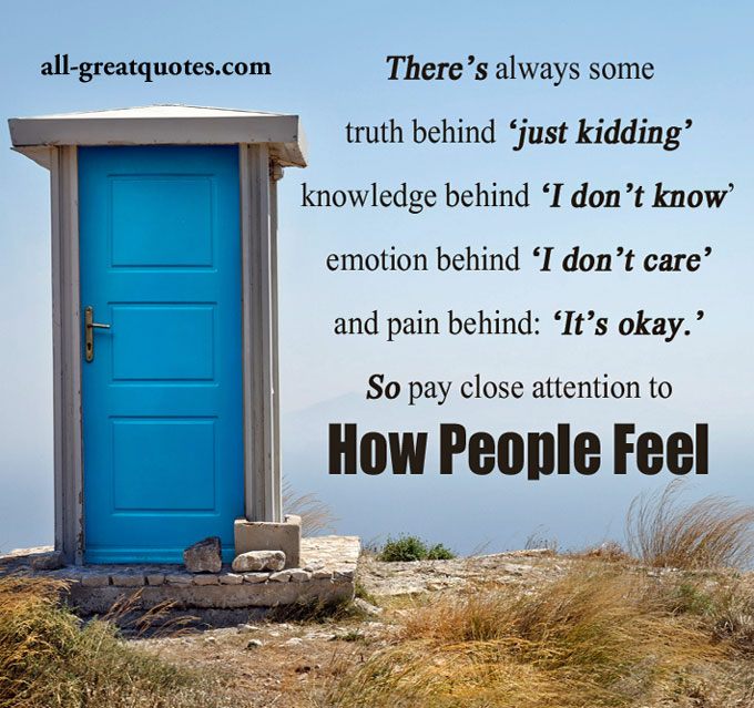 Picture Quotes – There's always some truth behind just kidding