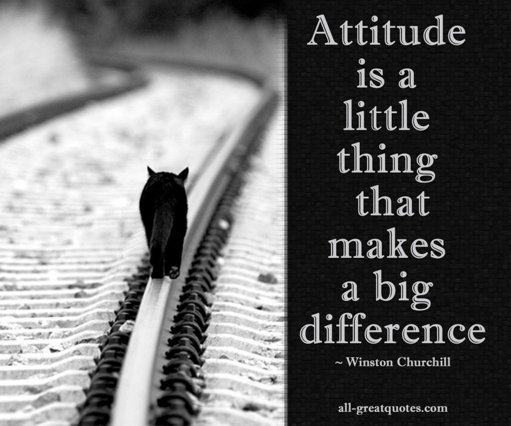 Attitude is a little thing that makes a big difference – Join Me On Facebook – Inspirational Picture Quotes About Life