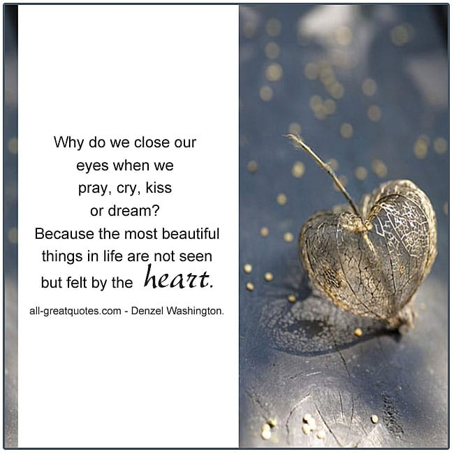 We close our eyes when we pray cry kiss or dream - Picture Quotes