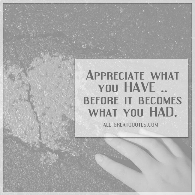 appreciate-what-you-have-before-it-becomes-what-you-had