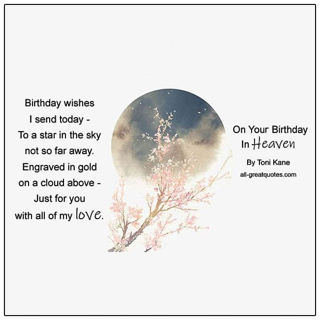 On Your Birthday In Heaven Card