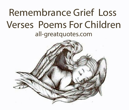 Baby Remembrance Loss Verses | Grief Poems For Children