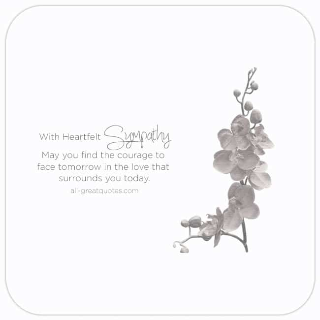 With Heartfelt Sympathy Cards For Facebook Grief Loss