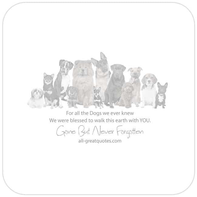 In Loving Memory Dog Loss Cards For Facebook