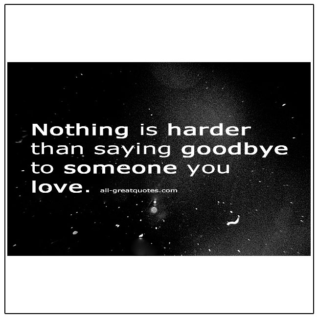 Nothing Is Harder Than Saying Goodbye To Someone Grief Quotes