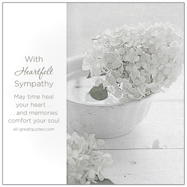 Condolences Heartfelt Sympathy Card Messages