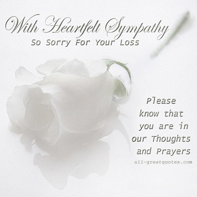 Free Sympathy Cards | With Heartfelt Sympathy