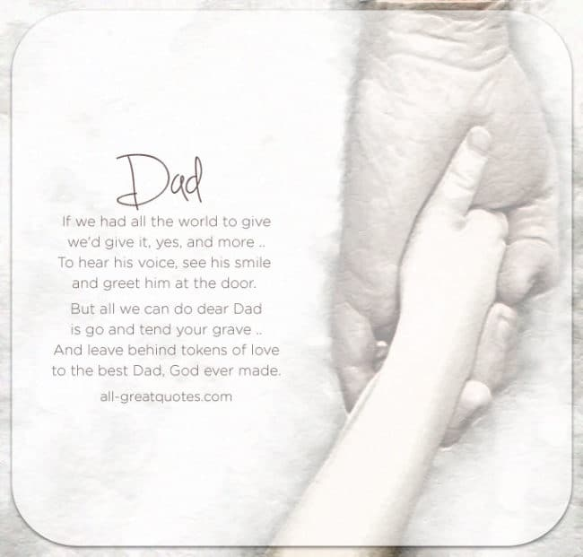 In-Loving-Memory-Card-Dad Poem Cards Fathers Day
