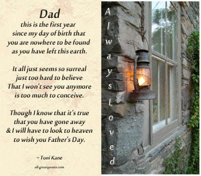 In Loving Memory Picture Cards For Dad