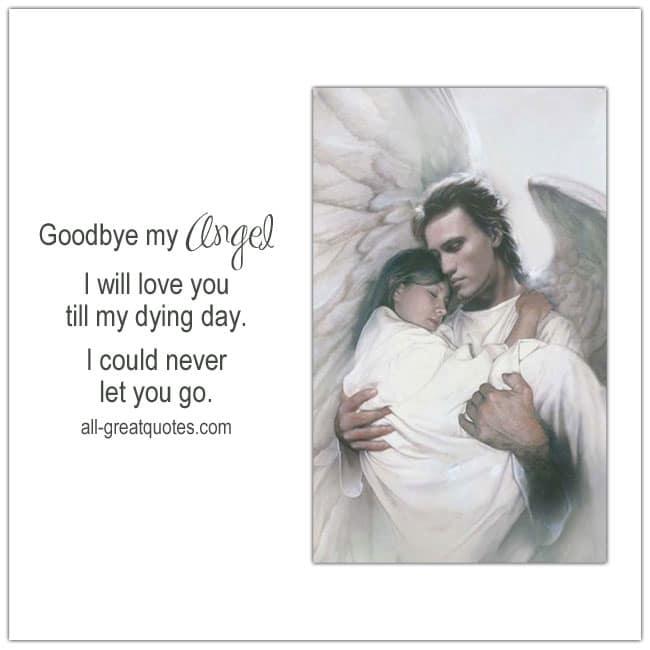 In Loving Memory Card. Goodbye my Angel.