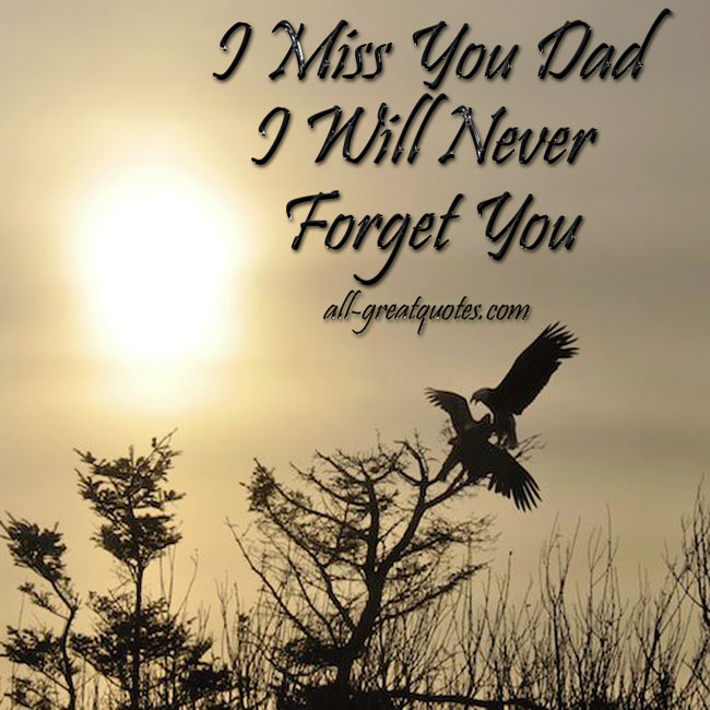 I Miss You Dad Quotes From Son - Paulcong