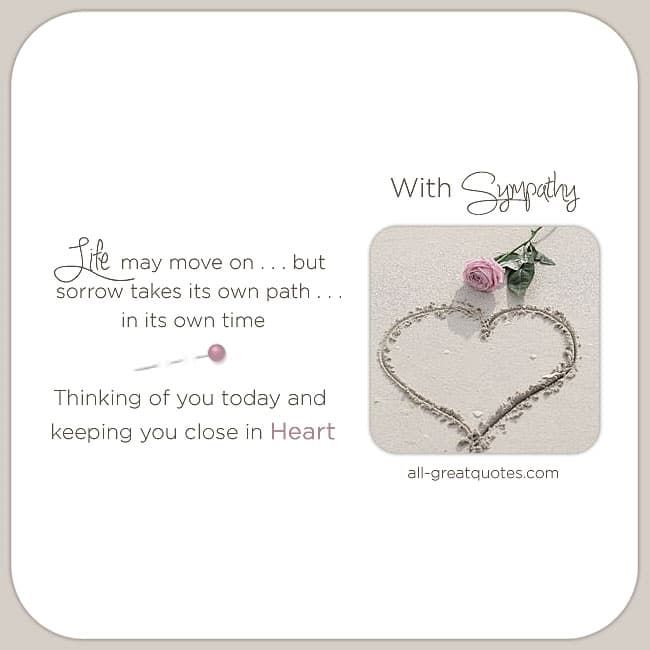 Sympathy Card Messages - In Loving Memory - deepest sympathy - condolence messages - condolences