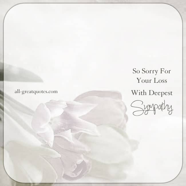With Deepest Sympathy. Condolences cards for Facebook