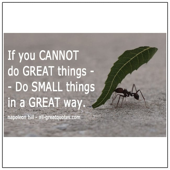 Do Small Things In A Great Way Quote