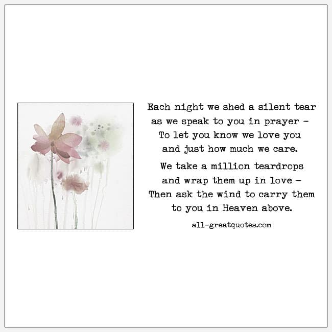Each Night We Shed A Silent Tear Grief Poems