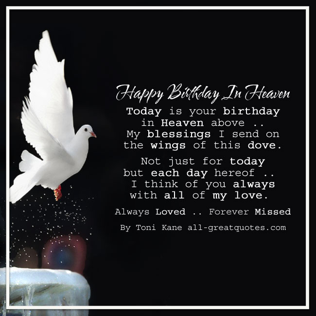 Happy 40th Birthday In Heaven Quotes: Happy Birthday In Heaven Card