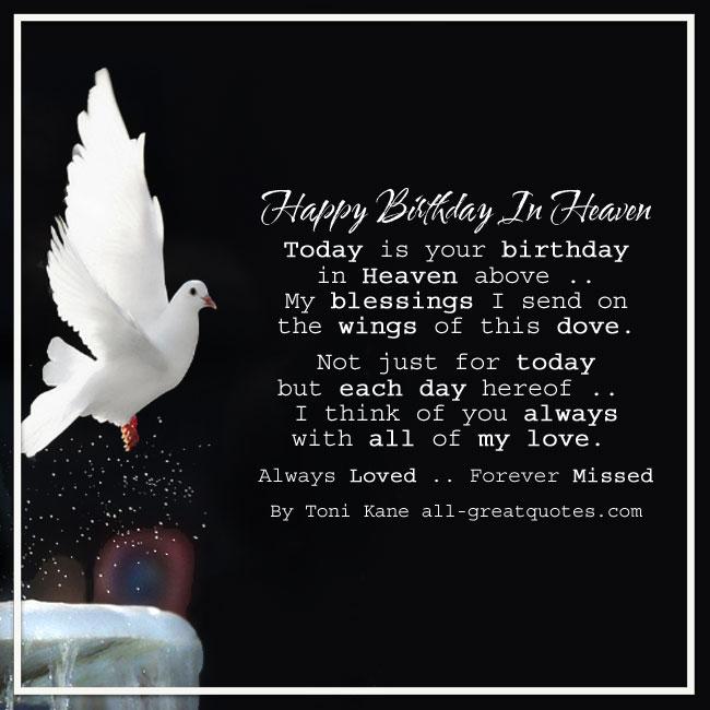 Happy Birthday In Heaven Card