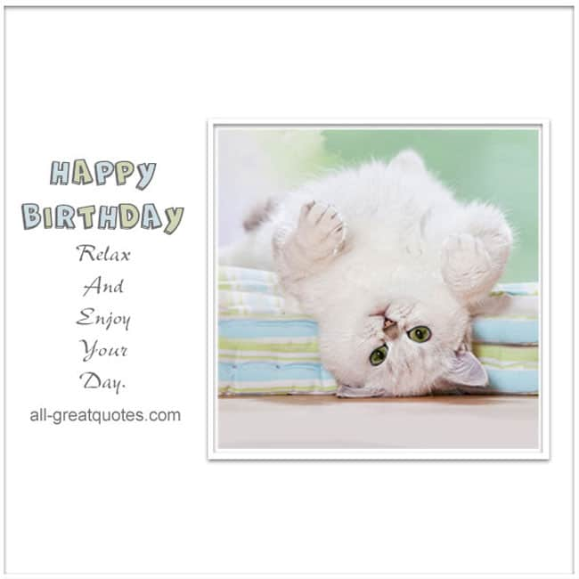 Happy Birthday Greeting Cards | Cute Cat Card