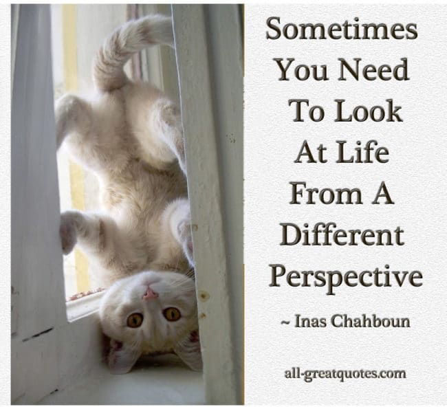 Sometimes You Need To Look At Life From A Different Perspective. - Inas Chahboun - Picture Quotes - Pictures With Quotes - Inspriational Quotes - Quotes About Life - Quotes Pictures