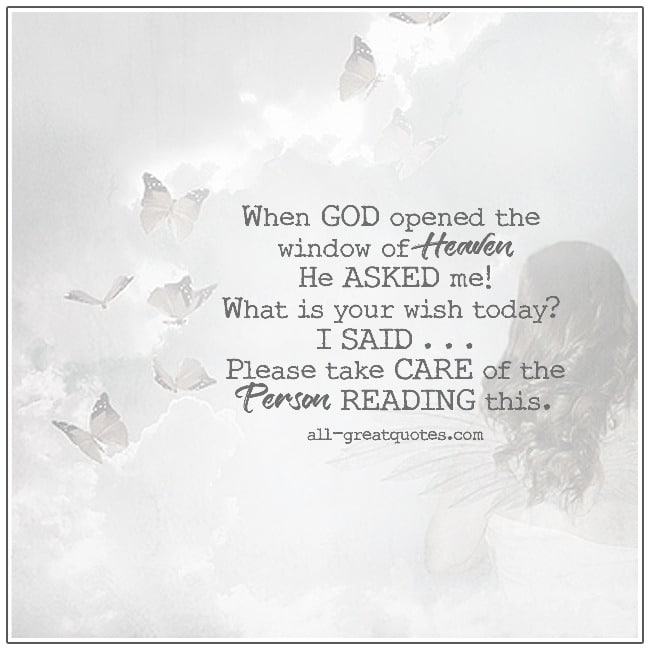 When God Opened The Window Of Heaven Inspirational Quotes God Quotes