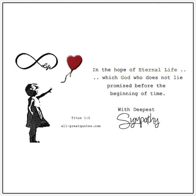 In The Hope Of Eternal Life With Deepest Sympathy Card