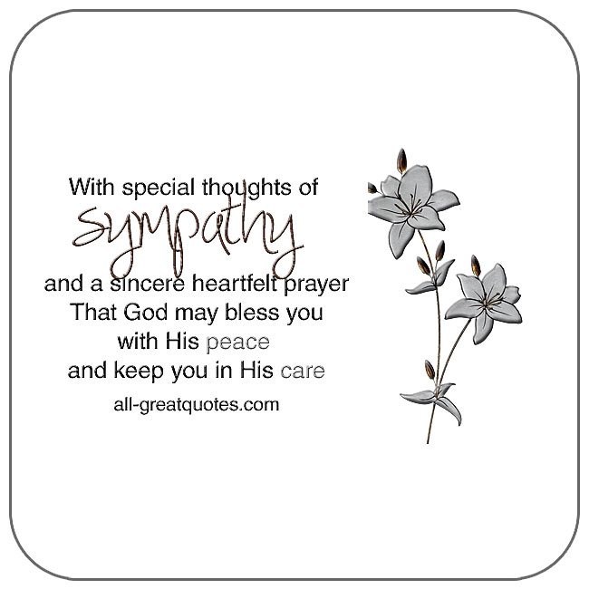With special thoughts of sympathy card