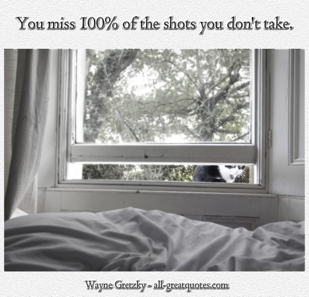You miss 100% of the shots you dont take - Wayne Gretzky - Picture Quotes - Pictures With Quotes - Inspriational Quotes - Quotes About Life - Quotes Pictures