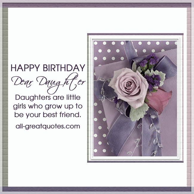 Happy Birthday Daughter Greetings Card For Facebook Rose Card Image