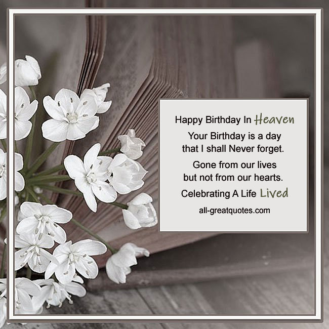 Happy Birthday In Heaven Card Celebrating A Life Lived