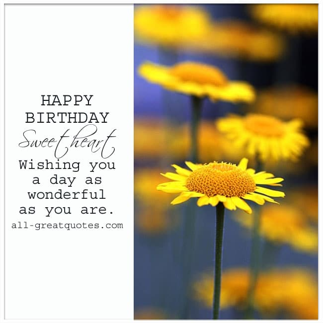 Happy Birthday Sweetheart Picture Card To Share